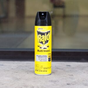 Over-the-Counter Insecticide can on counter
