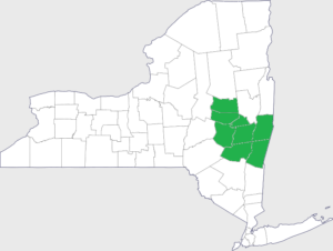 Map of Albany Service Areas